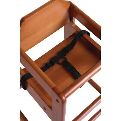 Bolero Wooden Highchair Seat in Dark Wood Finish - 750(H)x510(W)x510(D)mm