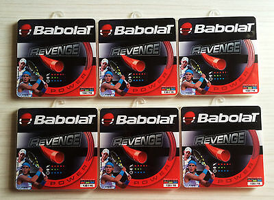 Brand New Babolat Revenge Red Tennis string – 6 individual set as RRP $180