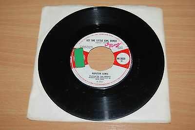 "HOPETON LEWIS Let The Little Girl Dance UK 7"" VERY RARE 1967 ISLAND WI-3059"