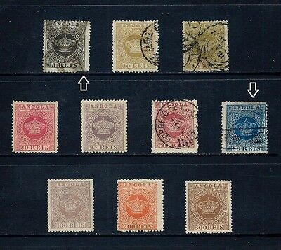 ANGOLA _ 1870+ 'CROWN' 10 _ mh-used ____(467)