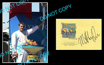 Matthew Dunn Aussie Olympic Swimming Champion Signed Cover +1 Photo