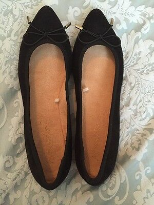 Black Suede Pumps With Pointed Toe By Monsoon Accessorize Size 6.5
