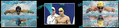 Nick D'arcy Aust Olympic Swimming Champion Signed Photo +2 Photos