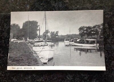 Old Postcard Of The Quay At Beecles