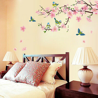 DIY Wall Sticker The peach blossom And The swallow Wallpapers Art Mural Waterpro
