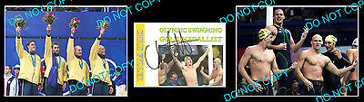 Chris Fydler Australian Olympic Swimming Champion Signed Cover +2 Photos
