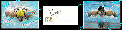 Jessicah Schipper Olympic Swimming Gold Medallist Signed Cover +2 Photos