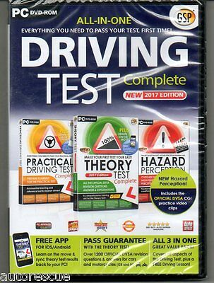 Driving Test Complete  2017  Theory Hazard Practical 'New & Sealed' (PC-DVD)
