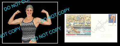 Linley Frame Australian Olympic Swimming Champion Signed Cover +1 Photo