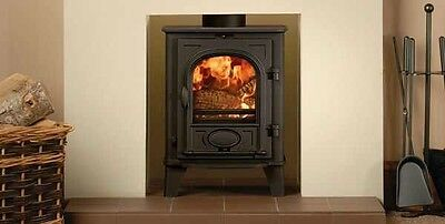 Stovax Stockton 4 Multi Fuel Defra Approved Wood Burning Stove With Smoke Kit