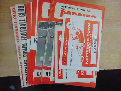 Bundle 13 x Kettering Town FC Home Programmes Listed 1970s