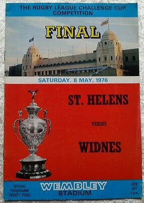 Rugby League Programme - St. Helens v Widnes - Challenge Cup FINAL - 8/5/1976