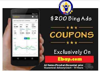 $200 Bing Advertising Credit (Works Worldwide) *Limited Time Offer*