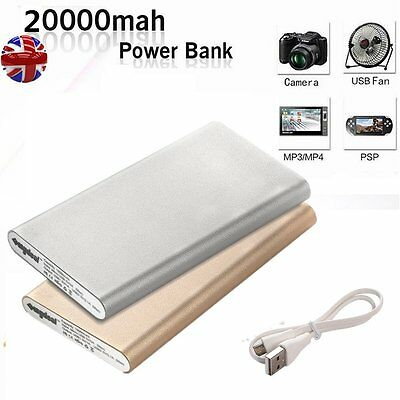 20000mAh Universal Portable External Dual USB Charger Power Bank For Cell Phone