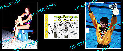 Tracey Wikham Australian Olympic Swimming Champion Signed Cover +2 Photos