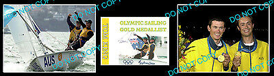Tom King Australian Olympic Sailing Champion Signed Cover +2 Photos