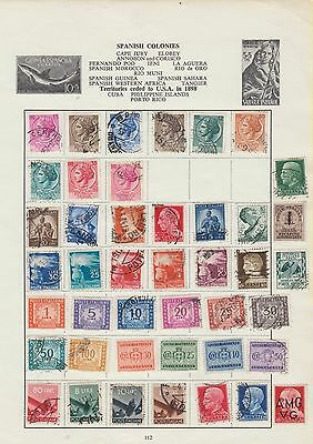 Ls7 A Page Of Early Italian Stamps On Sheet