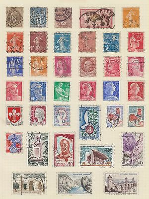 Ml18 Early Stamps From The France On Old Album Page