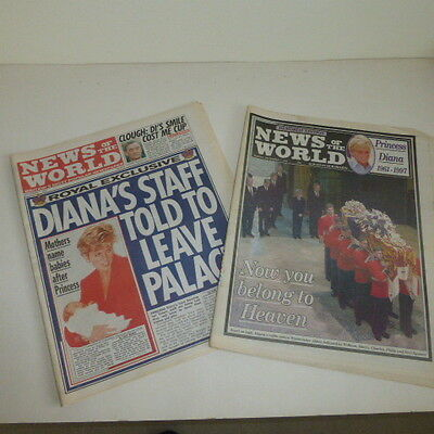News of The World  Sunday 7th 0f September 1997 & Memorial edition Princess Di