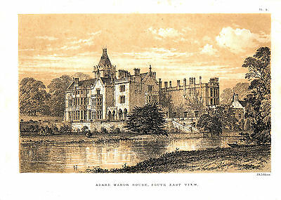 Adare Manor, re-print from Memorials of Adare Manor by Caroline Dunraven 1855