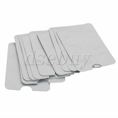 A Set of 10 Credit Card ID Secure Protector Holder RFID Blocking Sleeve