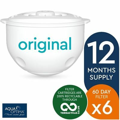 6 x Aqua Optima Double-Life 60-Day Water Jug Refill Filters - 12 Months Supply