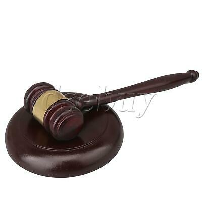 Pure Handmade Wood Gavel Sound Block for Lawyer Court Judge Auction