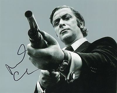 MICHAEL CAINE - Signed 10x8 Photograph - FILM - GET CARTER