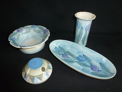 Four Pieces Of Hand Painted Jersey Pottery