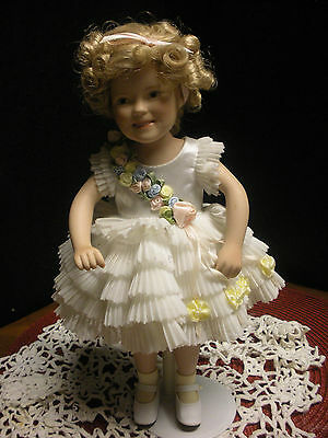 """Vintage Signed Elke Hutchens 10"""" Shriley Temple Doll (Baby Take A bOW)"""