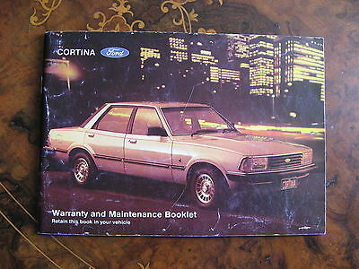 Ford Cortina Warranty & Maintenance Booklet