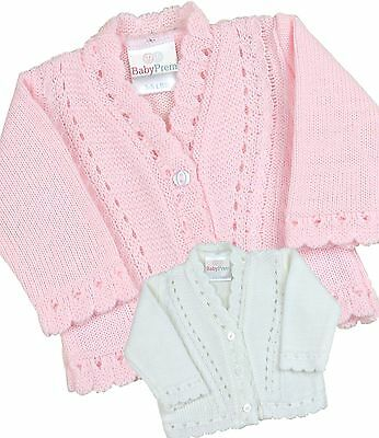 BabyPrem PREMATURE Baby Girls Cardigans Small Tiny Baby Knitted Cardigan 3-8lb