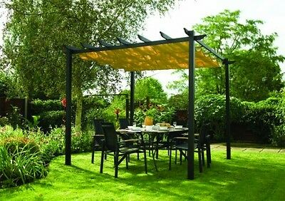 Sun Shade for Garden with Retractable Canopy Free Standing Shower Proof