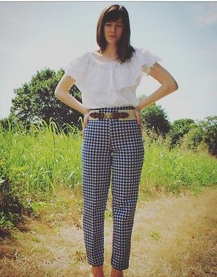 Vintage High Waisted Gingham Trousers