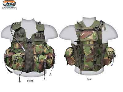 Ultimate Assault Chest Webbing Vest Dpm Camouflage 1.5L Bladder Army Airsoft