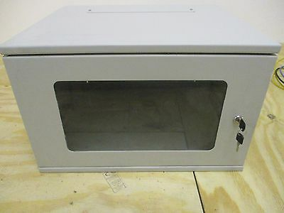 6U 19 inch Comms Cabinet or Rack, Includes Shelf and 24 Port Patch Panel.