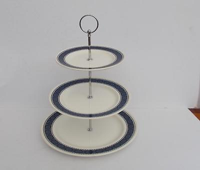 "Retro Wedgwood ""Argosy"" 1960's 3 Tier Cake/Afternoon Tea Stand."