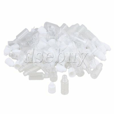 50PCS 10ml Transparent Plastic Empty Squeezable Solvents Dropper Bottles
