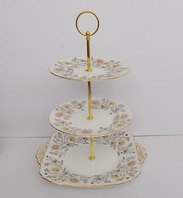 "Coalport/Foley ""Somerset"" Gilded 3 Tier Cake Stand.2."