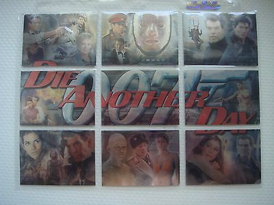 """James Bond """"Die Another Day"""" 2002 Montage Cards M1-M9"""