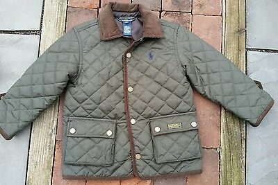 GREAT Polo Ralph Lauren Kids Boys Quilted Car Coat Jacket size 3T