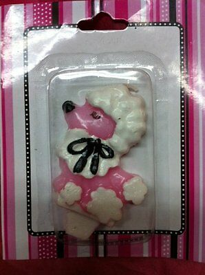Pink Poodle Birthday Candle For Cake ~~ Adorable~~