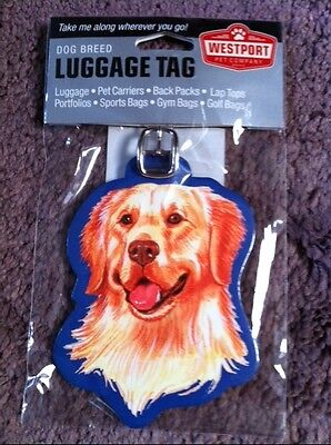 Golden Retriever Luggage Tag, Back Pack Tag, Identification Tag For Misc. Items