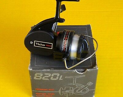 Vintage Viking #820 Fishing Reel, Spinning - With Box - Very Nice Condition