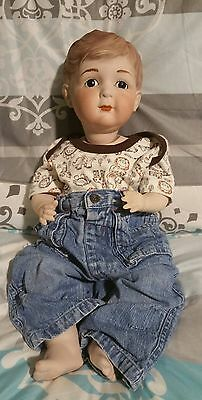 Haunted Handmade Solid Porcelain Doll Boy Henry
