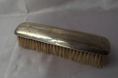 solid silver clothes brush