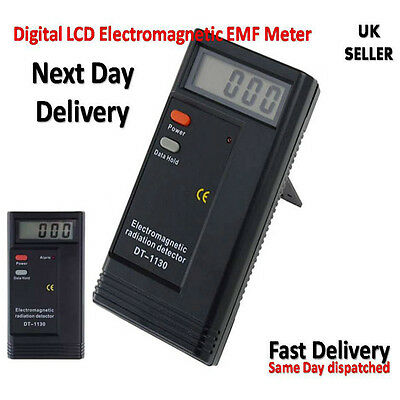 Digital LCD Electromagnetic Radiation Detector EMF Tester Dosimeter UK Seller