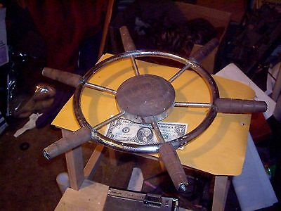 Metal And Wood Ship Wheel For Rat Rod Or Boat