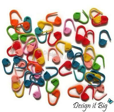 Stitch Holders Plastic Locking Markers for Wool Knitting Crochet Needle Clips