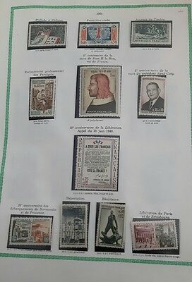 timbres france neufs 1964